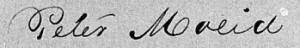Clerk's writing: Peter Moeid.