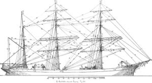 British Barque 3-Mast Rigging