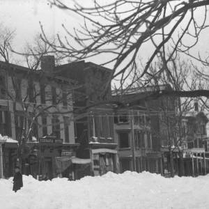 The Germania Hotel after the Blizzard of March 1888.