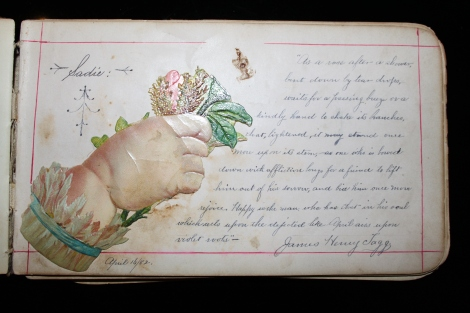 James's love letter to Sadie, 16 April 1882.